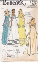 Butterick 5746 Wedding Bridesmaids Dress Sewing Pattern 12 B34 Uncut