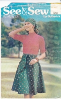 Butterick 5763 Wrap Skirt Sewing Pattern Small W24-25