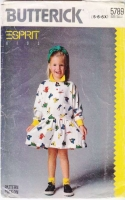 Butterick 5789 80s Espirit Child's Dress Sewing Pattern 5-6X