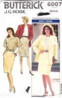 Butterick 6007 JG Hook Jacket, Top, Skirt  Sewing Pattern 12-16 B34-38 Uncut