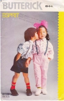 Butterick 6025 80s Espirit Child's Shirt, Pants, Shorts Sewing Pattern 5-6X