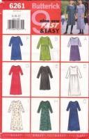Butterick 6261 Pullover  Dress  Sewing Pattern 8-12 B31-34 Uncut