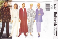 Butterick 6268 Jacket Duster Pants Skirt Sewing Pattern 14-18 Uncut