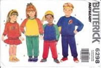 Butterick 6298 Child's Top, Skirt, & Pants Sewing Pattern 2-6X Uncut