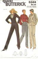 Butterick 6344 Jacket, Blouse, Pants Suit Sewing Pattern 8 B31 Uncut