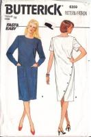 Butterick 6359 80s Asymmetrical  Back Chemise Dress Sewing Pattern 16 B38 Uncut