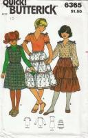 Butterick 6365 Girls Top, Skirt & Jumper Sewing Pattern 10 Uncut