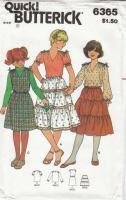 Butterick 6365 Girls Top, Skirt & Jumper Sewing Pattern 8 Uncut