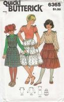 Butterick 6365 Girls Top, Skirt & Jumper Sewing Pattern 7 Uncut