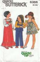 Butterick 6366 Toddler Blouse Top Pants Dress Jumper Sewing Pattern 1 Uncut