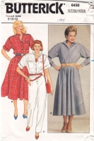 Butterick 6430 Shirtwaist Dress, Jumpsuit Sewing Pattern 8-12 B31-34 Uncut