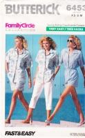 Butterick 6453 Camp Shirt, Shorts, Pull-on Pants Sewing Pattern XS-M B30-36 Uncut