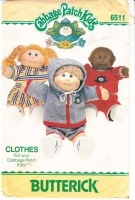 Butterick 6511 Cabbage Patch Kids Clothes Sewing Pattern Uncut