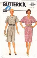 Butterick 6599 Flutter Sleeve Pullover Dress Sewing Pattern 14-18 B36-40 Uncut