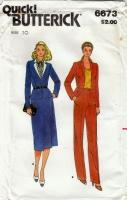 Butterick 6673 70s Jacket, Skirt, & Pants Sewing Pattern 10 B32 Uncut