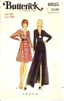 Butterick 6925 70s Evening Dress, Maxi Dress Sewing Pattern 16 B38 Uncut