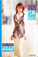 Butterick 6963 Long Vest & Slim Skirt Sewing Pattern 12-16 B34-38 Uncut