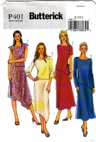 Butterick P401 Diagonal Hem Skirt & Top Sewing Pattern 8-12 B31-34 Uncut
