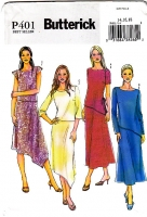 Butterick P401 Diagonal Hem Skirt & Top Sewing Pattern 14-18 B36-40 Plus Size Uncut