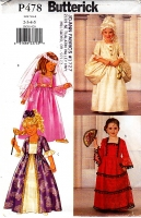 Butterick P478 Girls Princess Costume Dress Sewing Pattern 2-5 Uncut