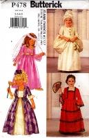 Butterick P478 Girls Princess Costume Dress Sewing Pattern 2-5 Uncut