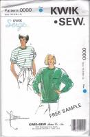 Kwik Sew 0000 Serged Misses T-Shirt Top Sewing Pattern XS-XL B31-45 Uncut