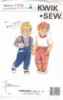 Kwik Sew 1719 Toddler Shirt & Pants Sewing Pattern 1T-3T Used
