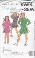 Kwik Sew 2166 Girls Skirt, Skort, Top, Shirt Sewing Pattern 8-14 Uncut