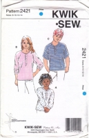 Kwik Sew 2421 Child's Pullover Shirt  Sewing Pattern 8-14 Uncut