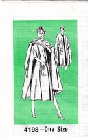 Mail Order 4198 Cozy Cape with Patch Pockets Sewing Pattern Uncut