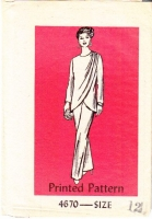 Mail Order 4670 70s 80s Draped Pant Suit Sewing Pattern 12 B34 Used