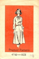 Mail Order 4750 Flared Puff Sleeved Dress Sewing Pattern 80s 10 B32 Used