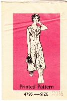Mail Order 4795 Jewel Neck Dress Sewing Pattern Half Size 20.5 B43 Used