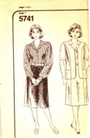 Mail Order 5741 Vest, Pullover Blouse & Skirt Sewing Pattern Half Sizes 14.5-24.5 B37-47 Uncut