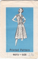 Mail Order 9073 Pussycat Bow, Shirtdress, Dress Sewing Pattern 14 B36 Uncut