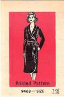 Mail Order 9468 Waterfall Drape Wrap Dress Sewing Pattern 12 B34 Used