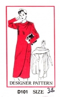 Mail Order D101 Shoulder Button Wrap Dress & Cape Sewing Pattern B38 Uncut