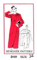 Mail Order D101 Shoulder Button Wrap Dress & Cape Sewing Pattern B38 Uncut