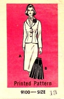 Marian Martin 9100 Fitted Jacket & Flared Skirt Sewing Pattern 18 B40 Used