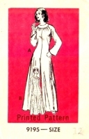 Marian Martin 9195 70s Maxi Dress, Palazzo Jumpsuit Sewing Pattern 12 B34 Uncut