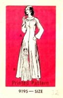 Marian Martin 9195 70s Maxi Dress, Palazzo Jumpsuit Sewing Pattern 12 B34 Uncut