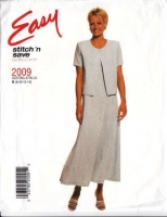 McCalls 2009 Princess Seam Dress & Jacket Sewing Pattern 8-14 B31-36 Uncut