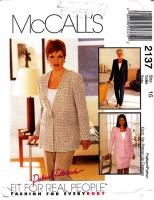 McCalls 2137 Lined Jacket, Pants, & Skirt Sewing Pattern 16 B38 Uncut