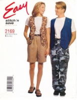 McCalls 2169 Unisex Vest, Pants, Shorts Sewing Pattern XL-XXL B42-48 Uncut