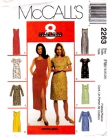 McCalls 2263 Princess Seam Dress Sewing Pattern 18-22 B40-44 Uncut