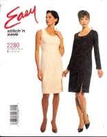 McCalls 2280 Sheath Dress Sewing Pattern 8-14 B31-36 Uncut