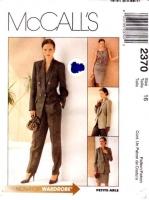 McCalls 2370 Career Suit, Jacket, Top, Skirt, Pants Sewing Pattern 16 B38 Uncut