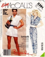 McCalls 2391 80s Brooke Shields, Romper, Jumpsuit Sewing Pattern 12-16 B34-38 Uncut