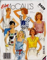 McCalls 2429 Cool Summer Sailor Tops Sewing Pattern Medium B36-38 Uncut