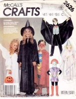 McCalls 2626 Childs Princess, Vampire, Witch, Angel, Martian Costume Sewing Pattern Medium 6-8 Uncut